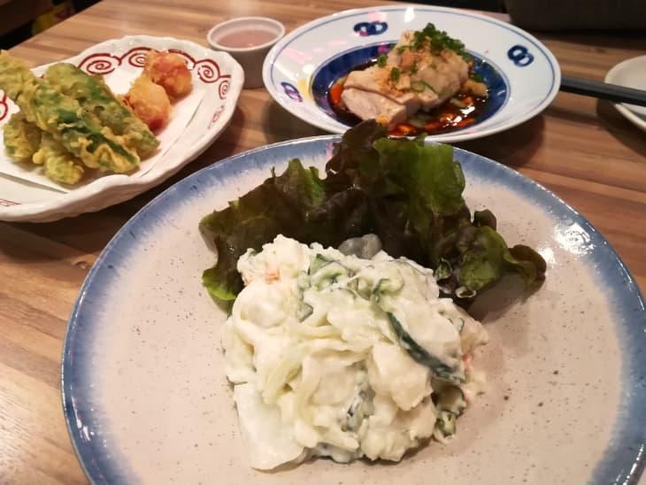 鳥良商店 荻窪南口店 ポテサラ・よだれどり・アボカド天ぷら