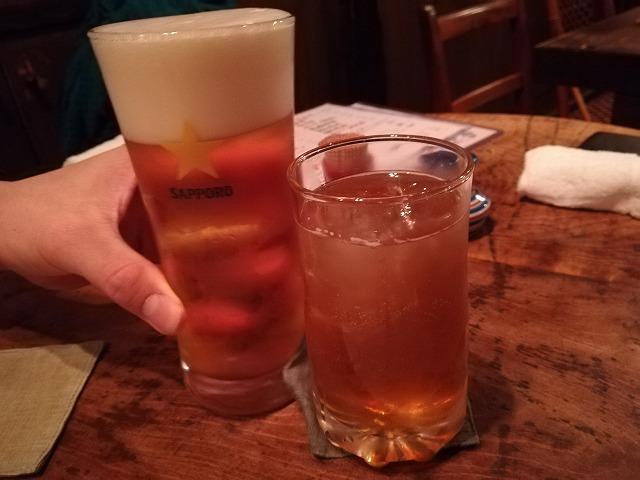 「荻窪 卯」ビールと梅酒