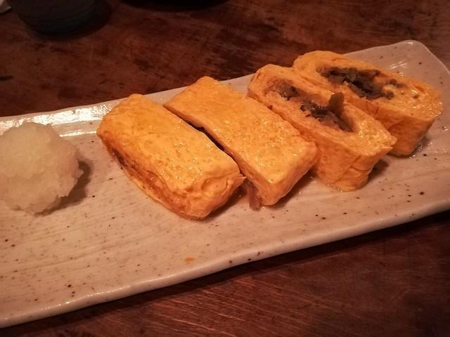 「荻窪 卯」すき焼の入った厚焼玉子