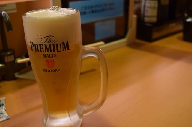 スシローの生ビール