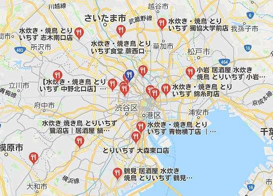とりいちずのGoogleマップ
