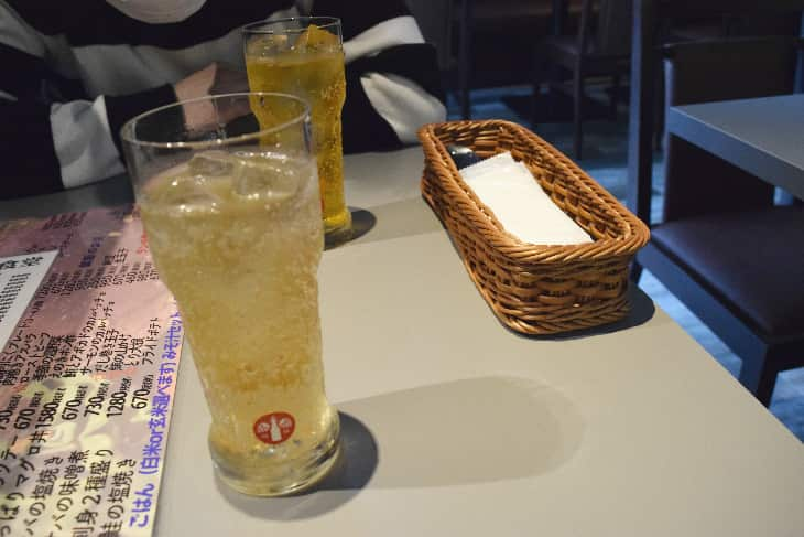 KARADA食堂のソフトドリンク