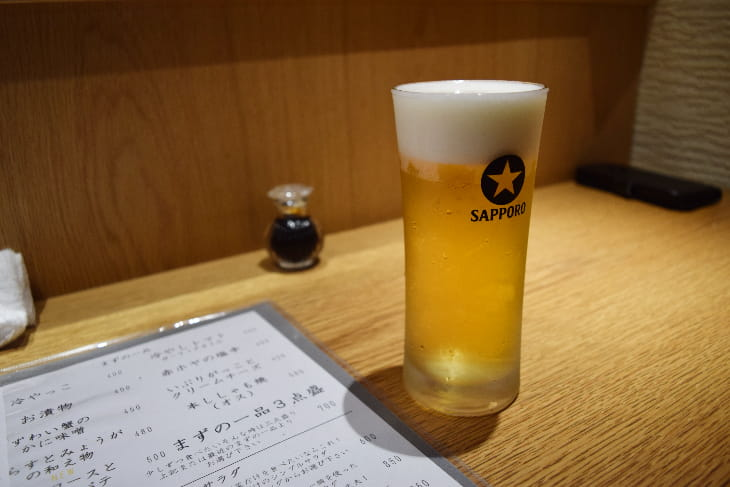 居酒屋おざ 生ビール