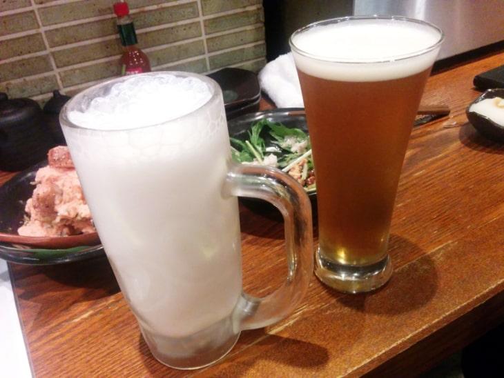神鶏(しんけい)荻窪本店 ビールとヨーグルト酒ソーダ割