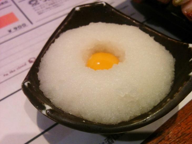 神鶏(しんけい)荻窪本店 お通しの月見おろし